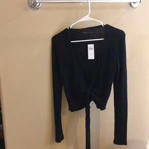 Abercrombie and Fitch Black Tie Shirt